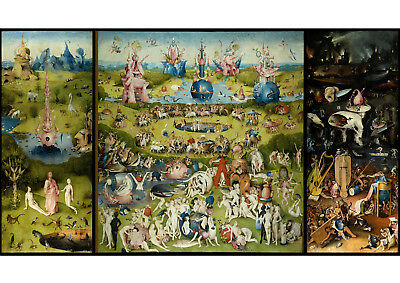 Art print POSTER / Canvas The garden of earthly delight by bosch.