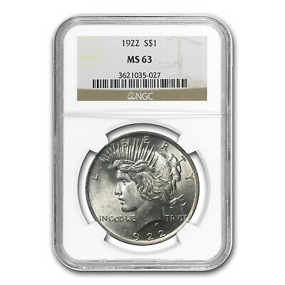 1922 Peace Dollar MS-63 NGC - SKU #4738