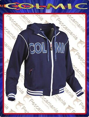Felpa Colmic New Zealand OFFICIAL TEAM con zip e cappuccio