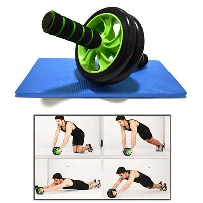 Double-wheeled Abdominal Body Muscle Exerciser Roller Gym Fitness Equipment KG