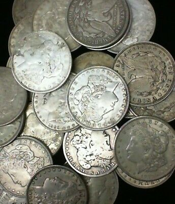 Assorted Dates Up To 1921 Assorted Silver Usa Morgan $1.00 Coins .900 Silver