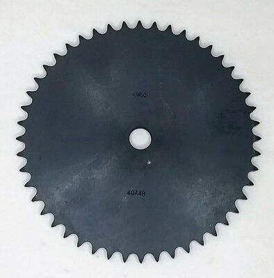 "AMEC 40A48-23/32"" Bore A Plate 48 Tooth Sprocket for #40 Roller Chain"