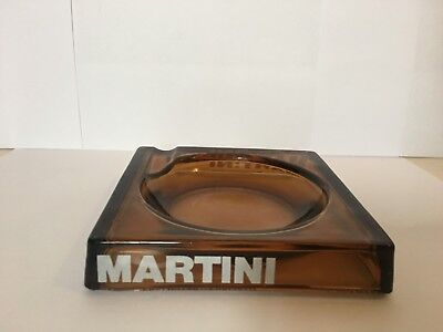 Cendrier Martini Collection Verre Rare France Publicitaire Vintage 1980 Ashtray