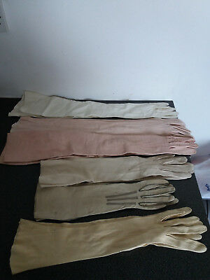 6 x Pairs Vintage Long Evening Gloves - Hayfords + Trefousse Country House Find