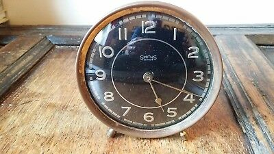 1940's Small Vintage Smiths 30 Hour Mantel Clock - Working Order