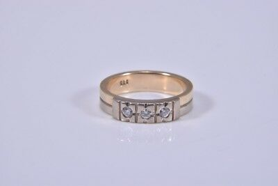 i08u77- 14kt/585er Gold Ring mit Diamanten