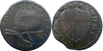 1788 New Jersey Copper, Maris 65-u, NICE VF COIN, strong strike for variety!