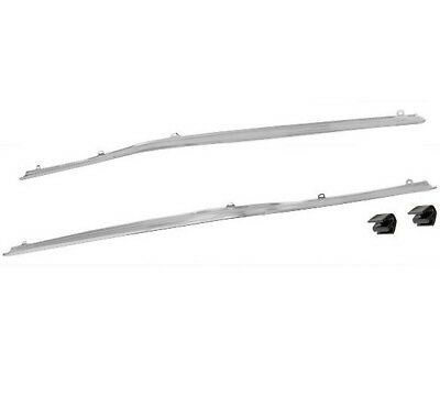 1971 72 73 Mustang Coupe Roof Drip Rail Trim Moldings Chrome Pair 2 Pieces