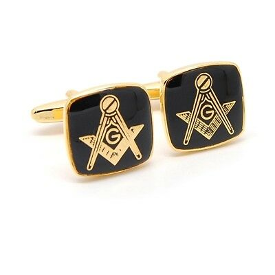 Masonic Emblem Cufflinks Square and Compass Freemason Available Gift Pouch