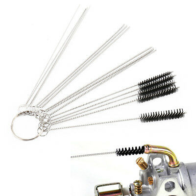 Stainless Steel Carburetor Cleaning Kit Carb Cleaner Set 10 Needles 5 Brushes