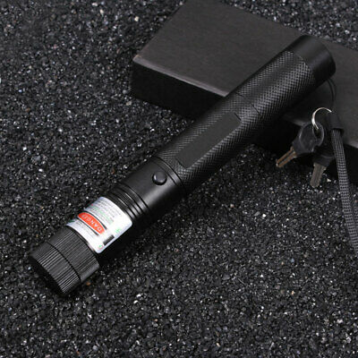 303 Green Laser Pointer Pen Adjustable Focus Lazer torch 532nm 1mw UK