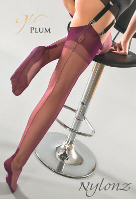 Gio Fully Fashioned Stockings - PLUM CUBAN - Imperfects