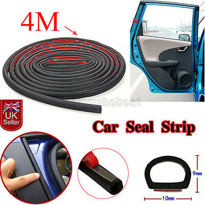 4M Car Large/ small D-Type Rubber Door Seal Weatherstrip Sealing Strip Truck UK