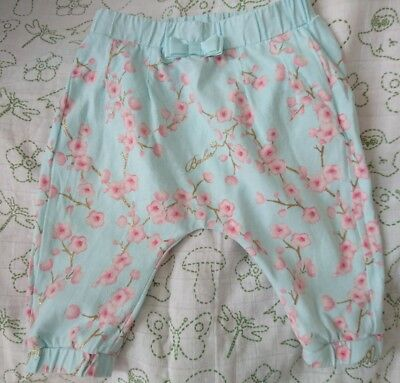 ted Baker baby girls cherry blossom trousers 0-3 months vgc