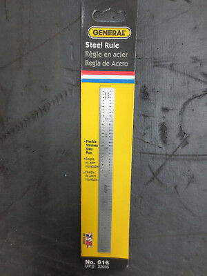 General Tools 616 Flexible Stainless Steel Rule 6""
