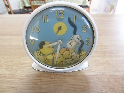 VINTAGE SMITHS BOXING SOOTY & CO SOOTY SWEEP ALARM CLOCK - needs repair