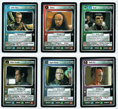 Star Trek Ccg Second Anthology 2, Set Of 6 Limited Cards
