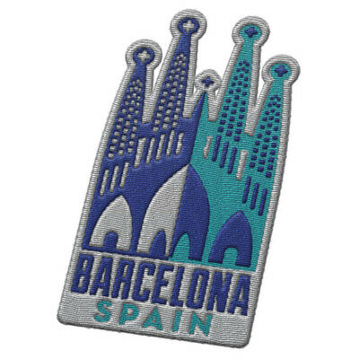 Barcelona Spain Iron On Travel Patch - Sagrada Familia