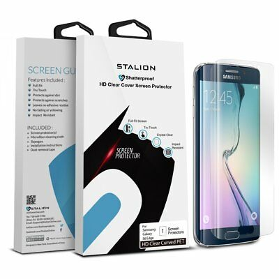 Stalion® Shield Premium Screen Protector for Samsung Galaxy S6 Edge LOT of 50