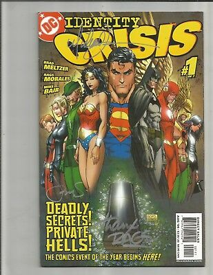 Identity Crisis 1 (2004) SIGNED BY MICHAEL TURNER AND RAGS MORALES!!  GORGEOUS!!
