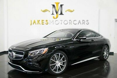 2015 Mercedes-Benz S-Class S63 AMG Coupe 2015 MERCEDES S63 AMG COUPE~12K MILES! BLACK ON BLACK~ PRISTINE 1-OWNER!