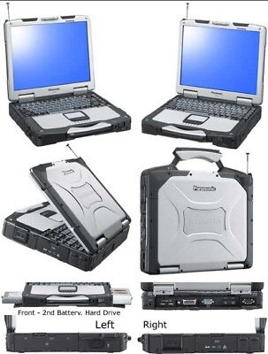 Panasonic CF-30 toughbook with  REAL CAT ET 3 Diagnostic Adapter