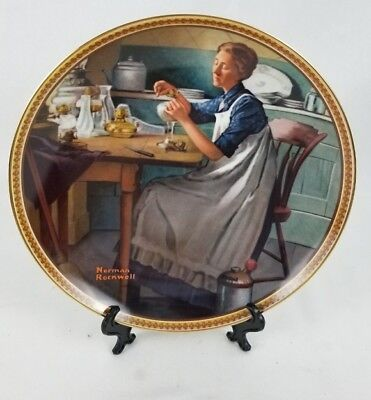 Norman Rockwell Rediscovered Women Working in the Kitchen Collector Plate