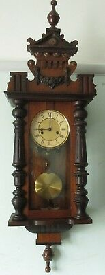Antique HAC Striking Wall Clock - working order, includes key