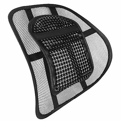 Black Mesh Lower Back Lumbar Support for Office Work Chairs In Car Seat Posture