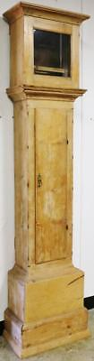 Antique English Longcase Grandfather Clock Case Only For Restoration C1800