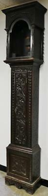 Lovely Antique Longcase Carved Mahogany Grandfather Clock Case Only C1800