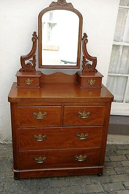 Late Victorian Mahogany Dressing Table/Chest
