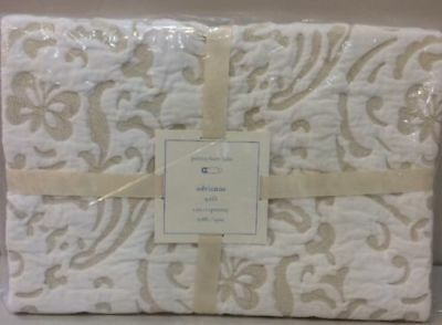 NIP Pottery Barn Kids Baby ADRIENNE EMBROIDERED Crib/Toddler Quilt