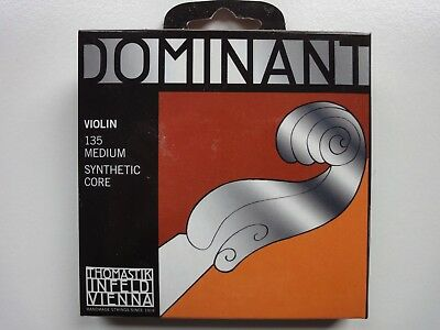 DOMINANT Violin-Saiten 135 Medium Synthetic Core Thomastik Infeld Vienna NEU&OVP