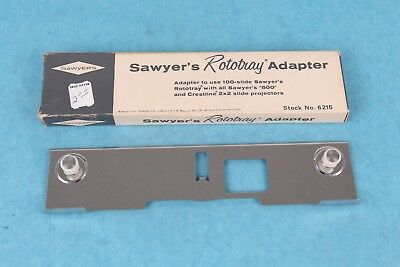 Vintage Sawyer's 500 Projector Rotary 100-Slide Adapter New In Box #6215
