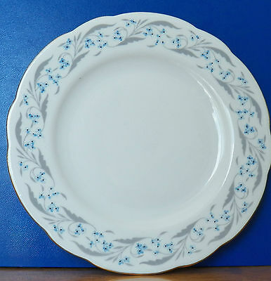 Cmielow Signed Antique 2 China Salad Plates Made In Poland White, Blue,grey,gold