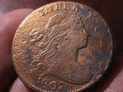 1807 Draped Bust Large Cent, (LF)   Very Fine Cond - Gold Plated?   Great Detail