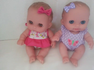 Berenguer 8'' cutesies vinyl baby dolls lot 2