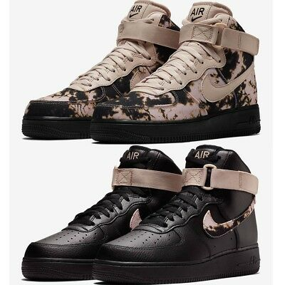 NIKE AIR FORCE 1 '07 HIGH Acid Wash Print MEN'S COMFY SHOES LIFESTYLE SNEAKERS