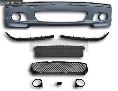 For BMW E46 Sedan Touring Performance Look M Sport Front bumper ABS Plastic line