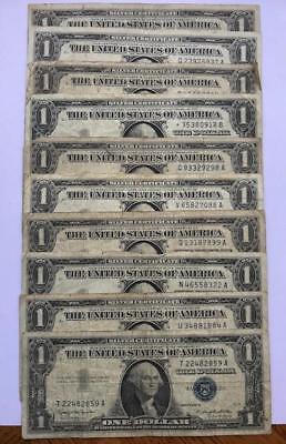 1$ Silver Certificate Series of 1957 . Lot of 10 !! NR.!!