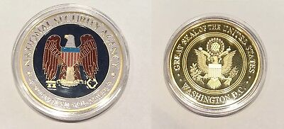 NSA CHALLENGE COIN  National Security Agency FREE COIN CASE  U.S. Seller