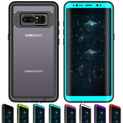 360° Full Body Waterproof Shockproof Clear Tough Case For Samsung Galaxy Note 8