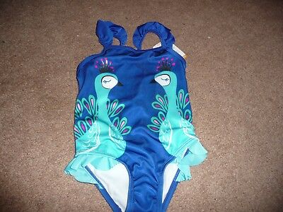 NEW NWT Gymboree girls size 2T Gorgeous blue peacock bathing suit