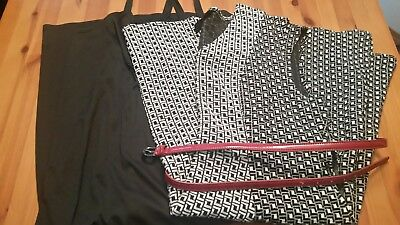 LANE BRYANT lot (2items) size 18/20 22 plus size, belted dress and a black slip.