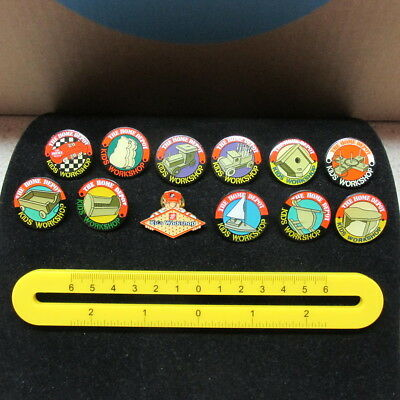 Home Depot Enameled Lapel Pins / 12 Pieces All Different / Kid's Workshop