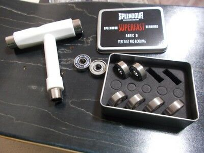 Splendour PRO SuperFast ABEC 9 Skateboard Bearings 50% OFF AND FREE T-TOOL