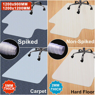 New Non-Slip PVC Home Office Carpet Hard Floor Chair Mat Frosted Spike Protector