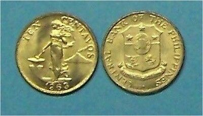 Philippines   1963  10 Centavos  Km188  Uncirculated Coin