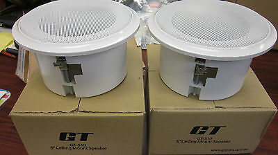 Pair of  5 inch Speakers Ceiling Mount. Background Music for Restaurant and Cafe